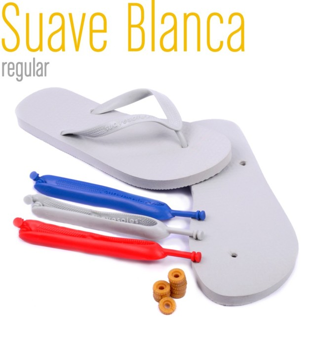 suave flip flops white